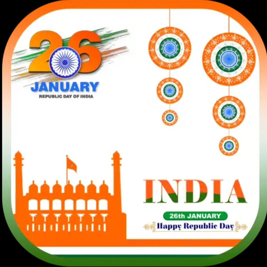 26 January Photo Frame Maker Republic Day Photo Editor
