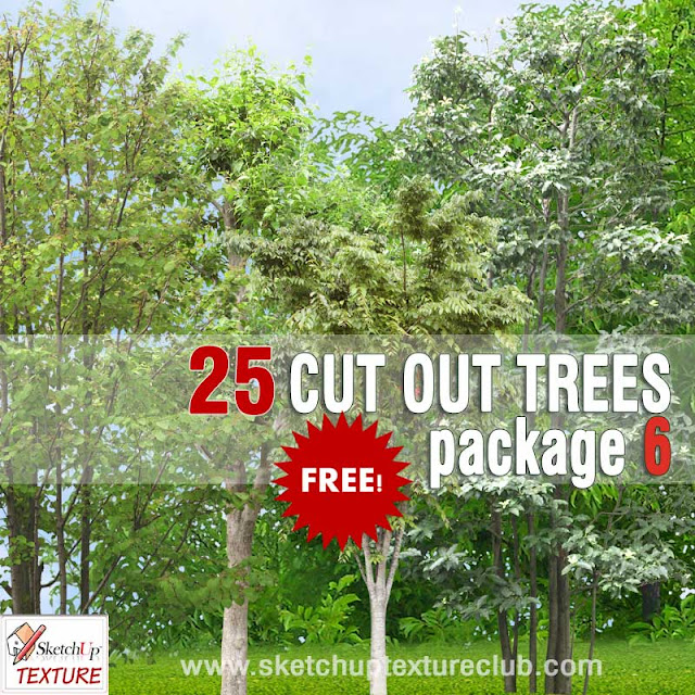 cut out trees texture pack 6