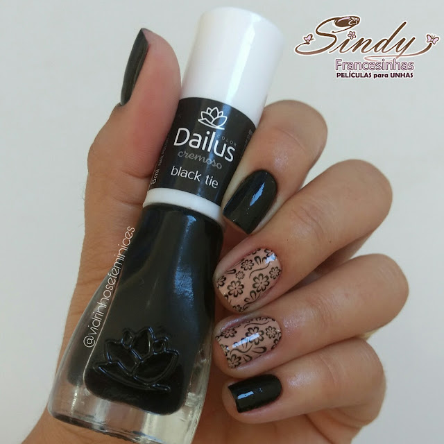 Esmalte  Black tie da Dailus + Sindy Francesinhas