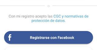 Como crear una cuenta en Lovoo con Facebook