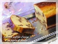 Cake à la confiture d'orange et aux pépites de chocolat