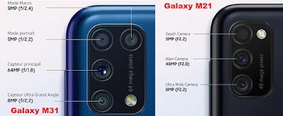 مقارنة بين سامسونج Galaxy M21 و Galaxy M31