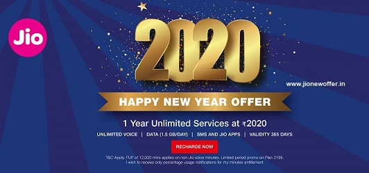 Jio 2020 Happy New Year Offer: Best Plan details for 2020