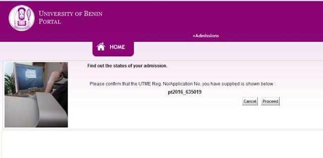 Admission Checking- ice and master Uniben