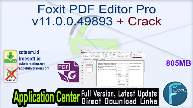 Foxit PDF Editor Pro v11.0.0.49893 + Crack_ ZcTeam.id