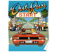 Out Run Video Game Poster