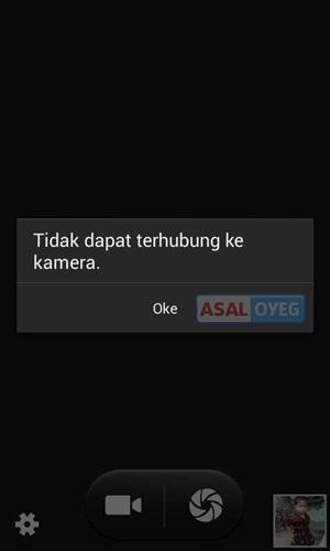 Kamera tidak bisa dibuka di Android