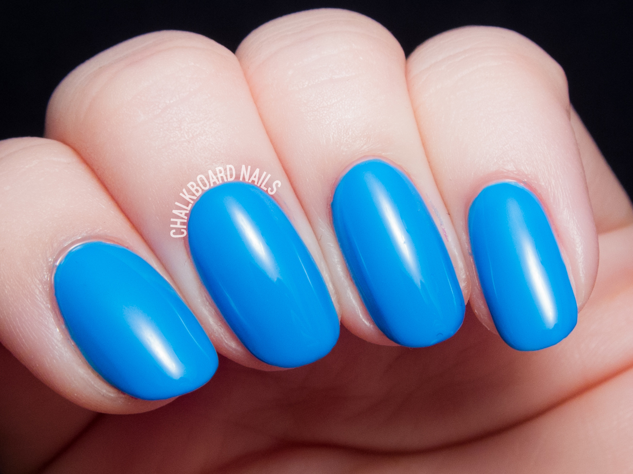 China Glaze DJ Blue My Mind via @chalkboardnails