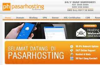 pasarhosting.com adalah penyedia paket web hosting murah