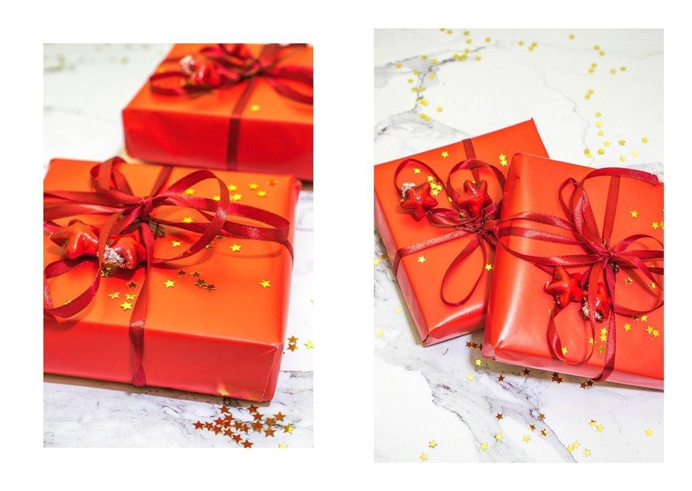 2a jak zapakować prezenty świąteczne w papier  pomysły na pakowanie prezentów jak zapakować pudełko w papier złote czerwone prezenty sposoby na pakowanie prezentów poradnik tutorial jak pakować