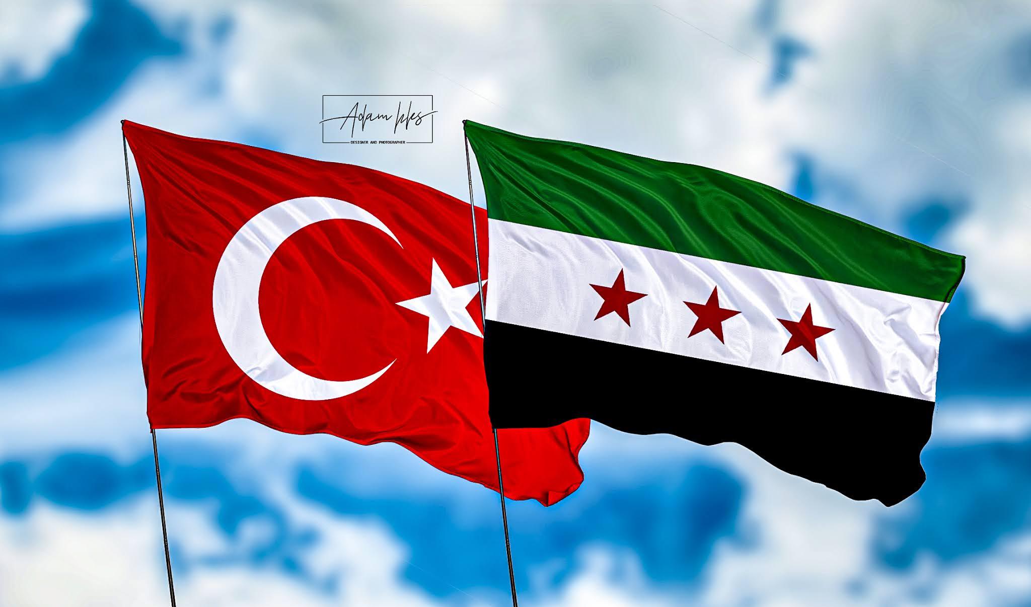 اجمل خلفية سوريا وتركيا خلفيات علم التركي وعلم سوريا الحر بجانب بعض