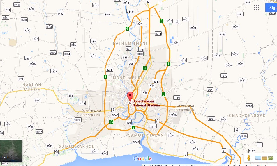 Suphachalasai National Stadium Bangkok Map Tourist Attractions – Tourist Attractions Map In Thailand
