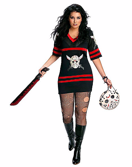 Adult Miss Voorhees Plus Size Costume Friday the 13th Spirit