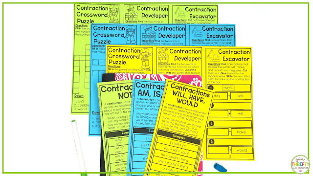 Can your students still use some help with contractions? These print and fold contractions activities for upper elementary students will help them master the skill.