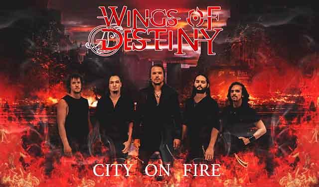 "Wings of Destiny - ""City On Fire"" (single)"
