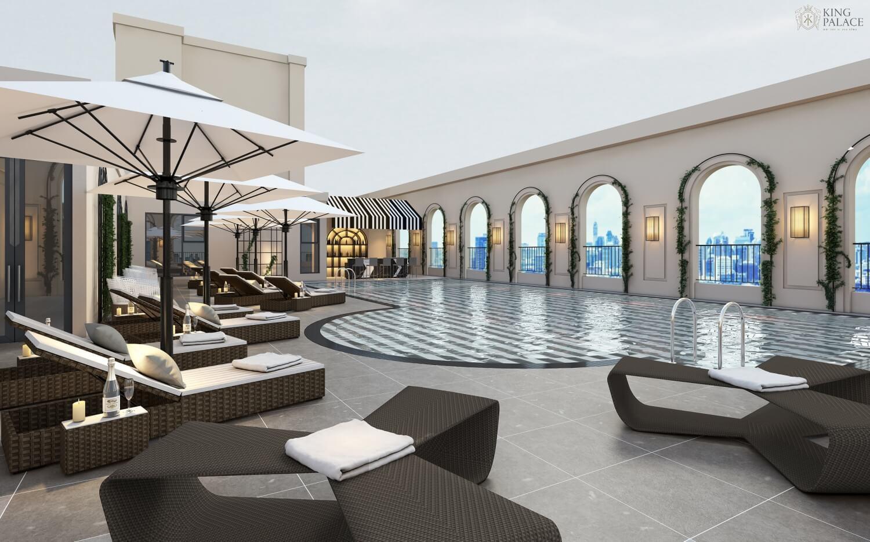 Bể bơi ngoài trời dự án King Palace Nguyễn Trãi