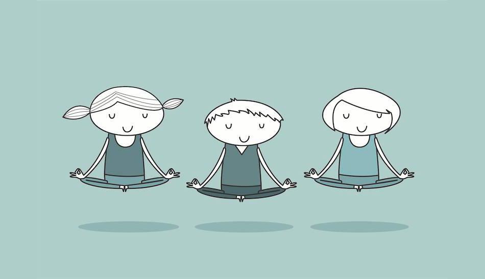 ragazzini in meditazione
