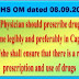 Prescription of Medicines by Generic and legible prescriptions by Generic names: CGHS OM