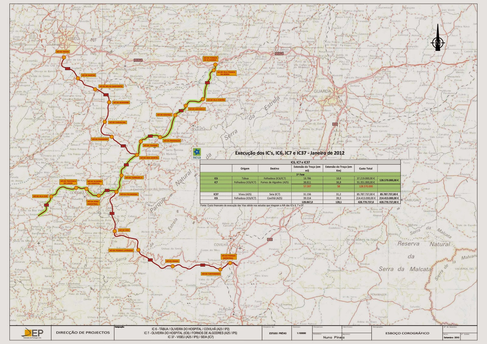 ic6 mapa itinerarioserradaestrela: Para que se perceba do que se fala ic6 mapa