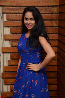 Pallavi Dora Actress in Sleeveless Blue Short dress at Prema Entha Madhuram Priyuraalu Antha Katinam teaser launch 023.jpg