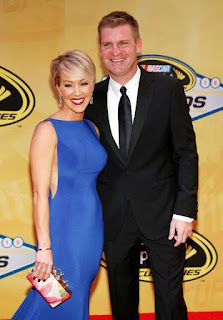 Clint Bowyer With His Wife