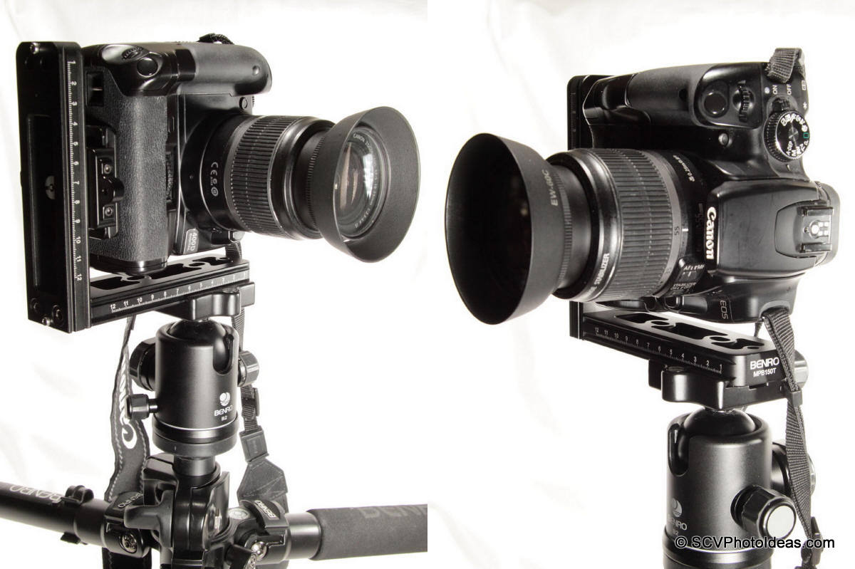 Benro MPB150T+Sunwayfoto DDC-42LR+Canon EOS 400D+BG-E3 - portrait front/back