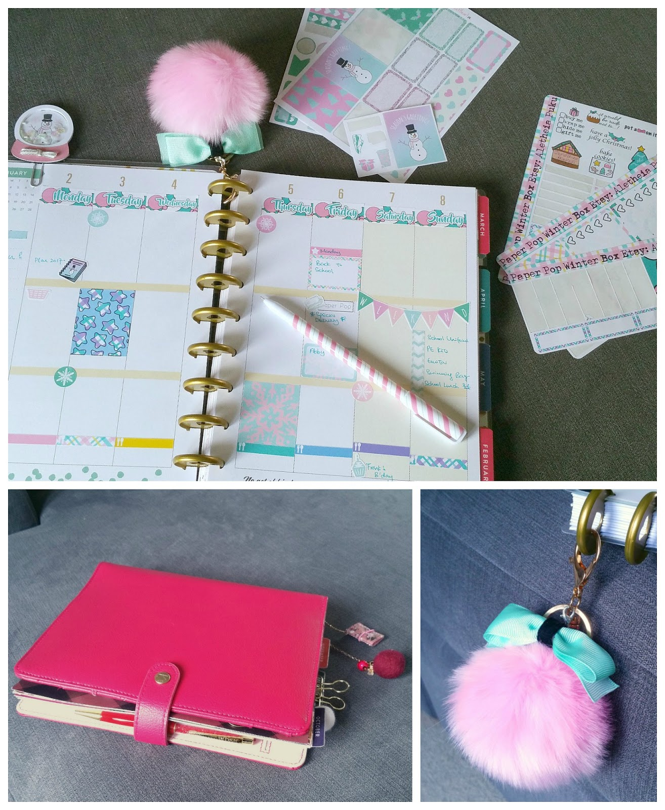 Paperpop.co.uk Winter box, Planner stationery, UK Planner Addicts