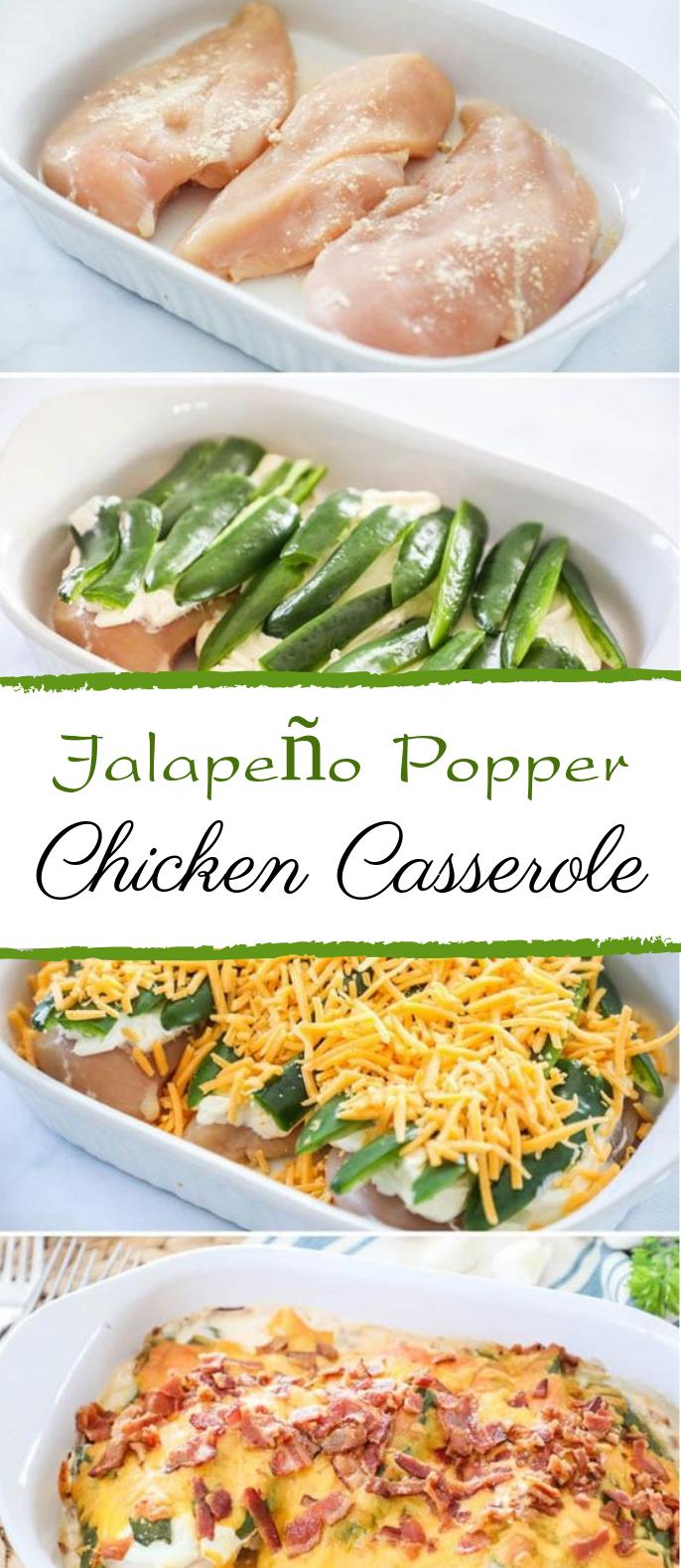 Jalapeño Popper Chicken Casserole #keto #lowcarb