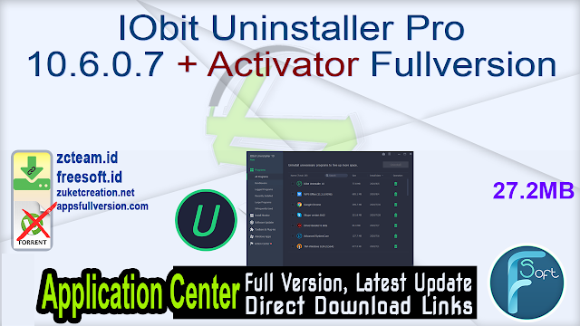 IObit Uninstaller Pro 10.6.0.7 + Activator Fullversion