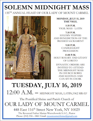 Patronal Feast of Our Lady of Mt Carmel in NYC | Christian News