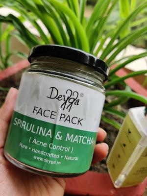 Spirulina Matcha Face Mask