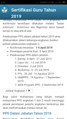 Daftar Peserta PPG Angkatan 2 Kabupaten OKU Timur