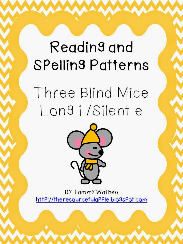 http://www.teacherspayteachers.com/Product/Reading-and-Spelling-Patterns-Three-Blind-Mice-Long-i-silent-e-580973