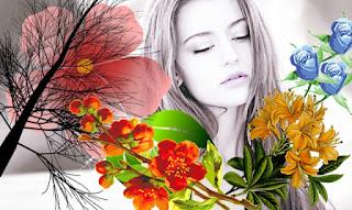 persamaan bunga dengan wanita