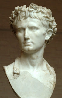 Caesar Augustus wearing the corona civica