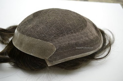 French Lace Poly Back Toupee
