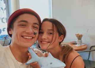 Jules LeBlanc clicking selfie with her ex-boyfriend Asher Angel
