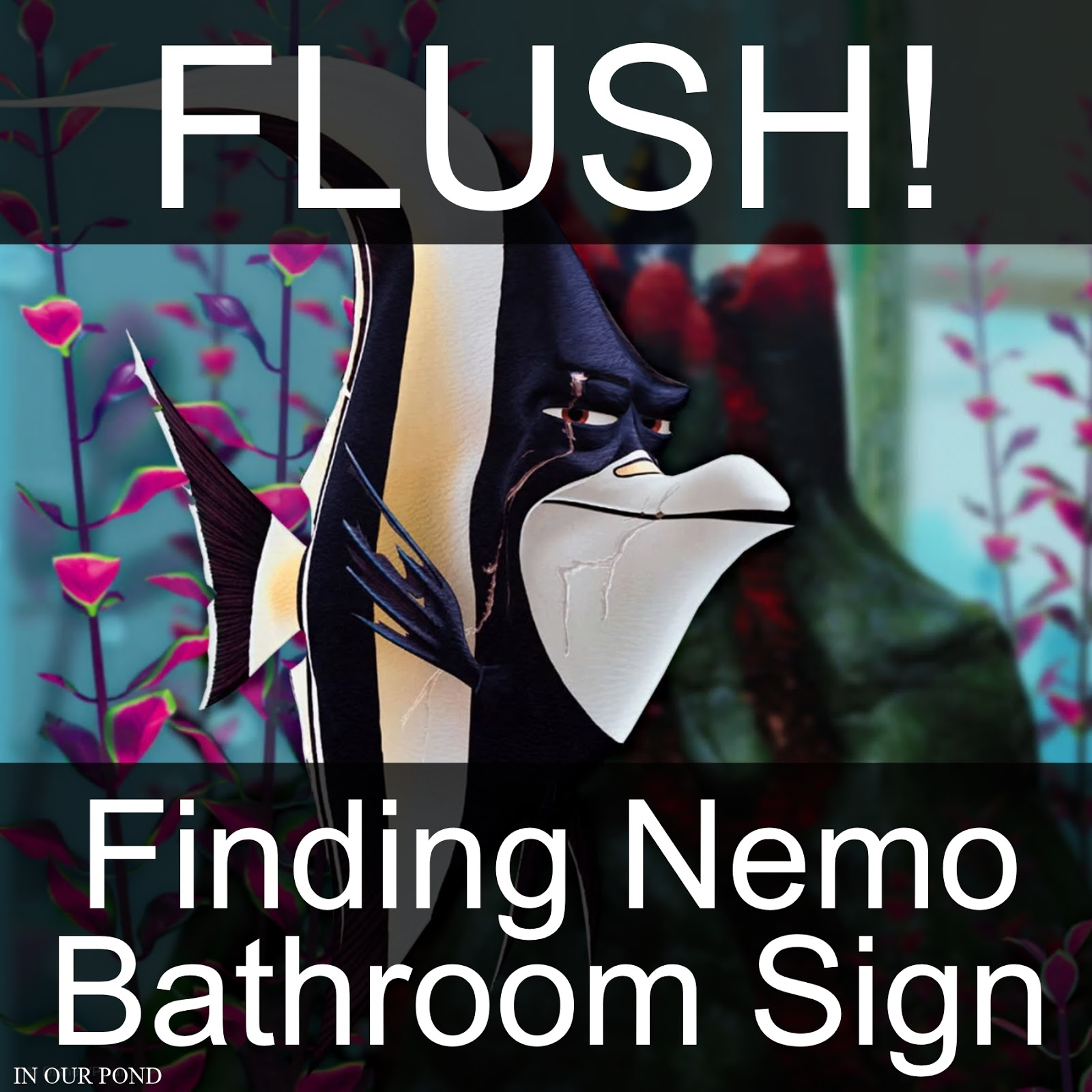 Finding Nemo Bathroom Sign For Kids