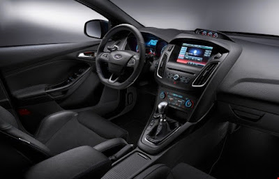 interior of the very impressive Ford Focus RS