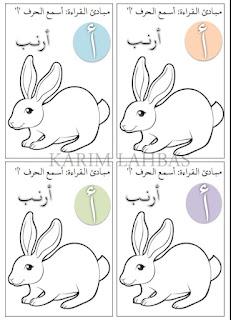 الحروف العربية كاملة