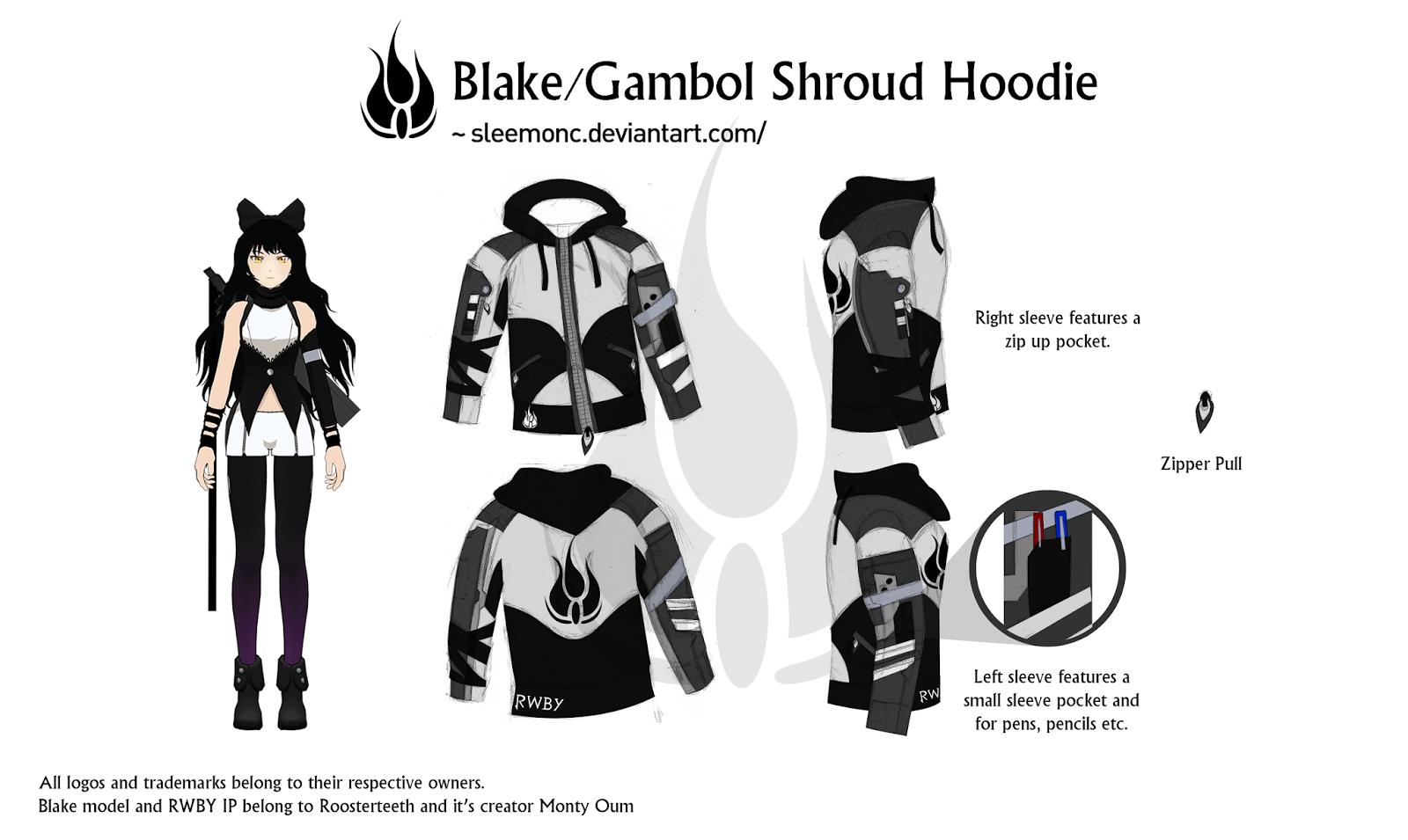 Rwby Character Design Contest : Portfolio rwby hoodies