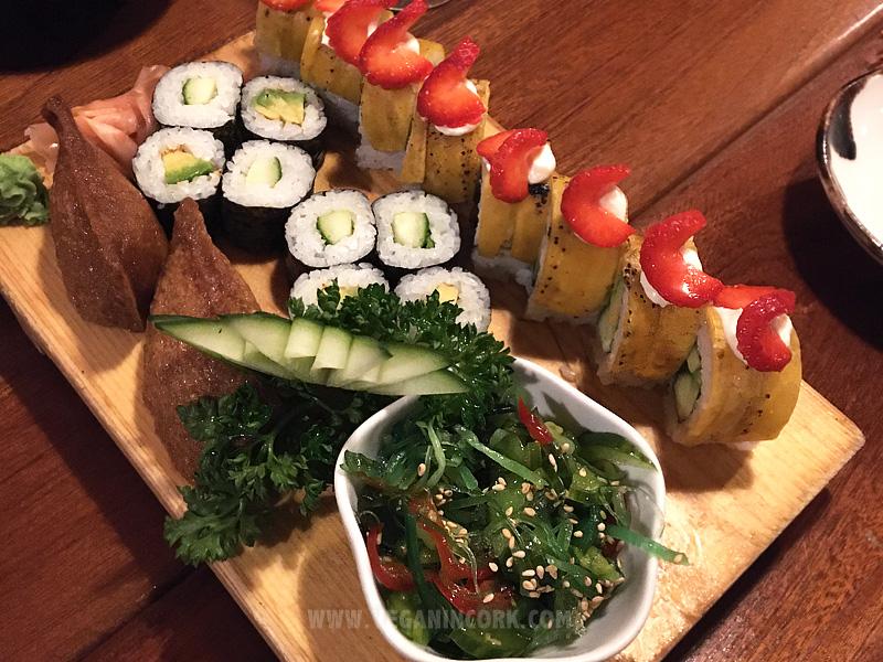 Vegetarian platter Sakura Japanese Restaurant Cork