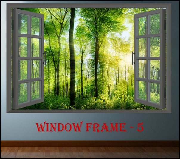 Window Forest wall decal   woodland forest theme bedroom ideas - forest fairies decor - woodland fairy room decor -  woodland murals  - woodland animal decorations - forest animals - fairy woodland bedrooms - snow white themed bedroom decorating ideas - magical woodland fairy forest theme bedrooms - Forest themed bedding -  Toddler Teddy Bear Beds - Teddy Bear Headboards - toddler woodland bedroom