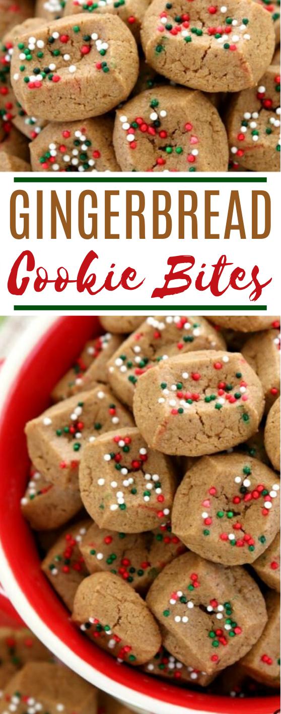 Easy Gingerbread Cookie Bites #cookies #easy #christmas #desserts #snacks