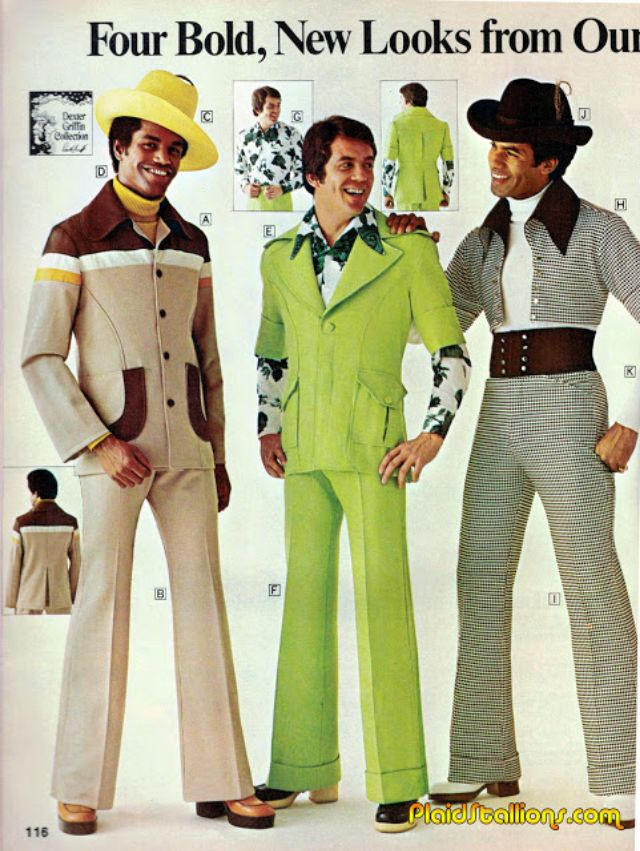 1970 Mens Clothes Google Search: In The 1970s Real Men Wore Flared Trousers And Flowery T