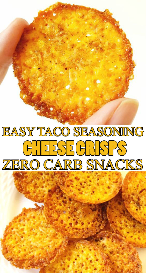 #EasyRecipes Taco Seasoning Cheese Crisps #lowCarb #Snacks