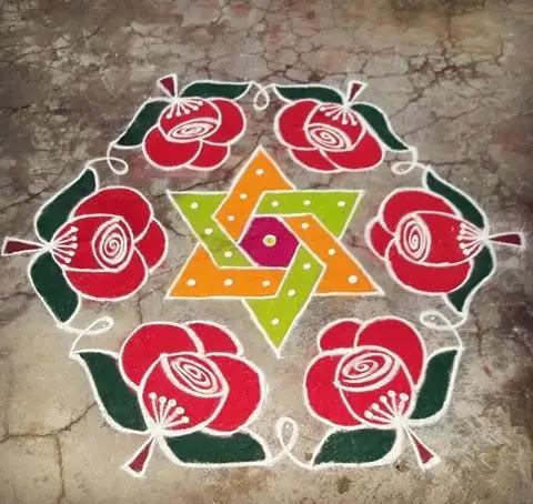 Pretty-flowers-indian-muggulu-design