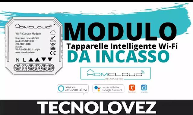 Modulo Tapparelle Smart WIFI Homcloud da inserire nella scatola elettrica 503