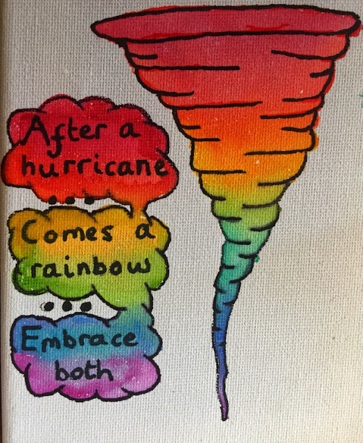 After a hurricane comes a rainbow embrace both