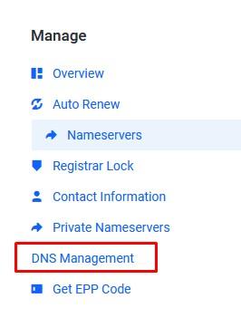 DNS Management Idcloudhost